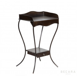 French olive side table