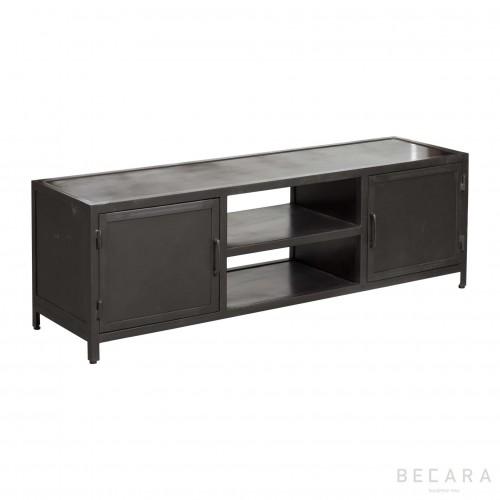Gray iron TV cabinet