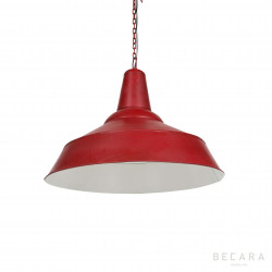 Red ceiling lamp