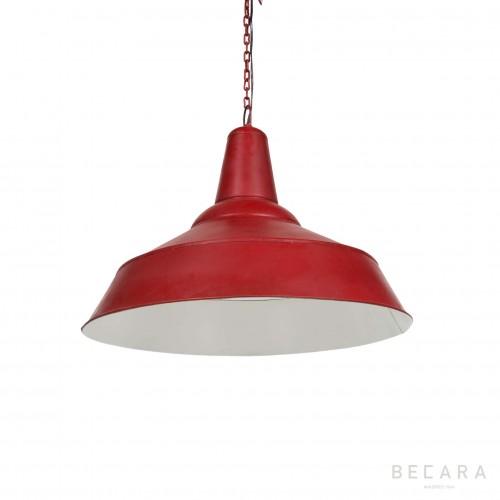 Lámpara de techo roja