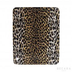 Big leopard print tray