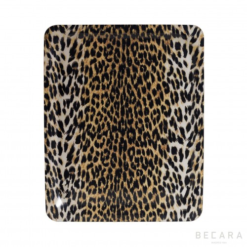 Big leopard print tray