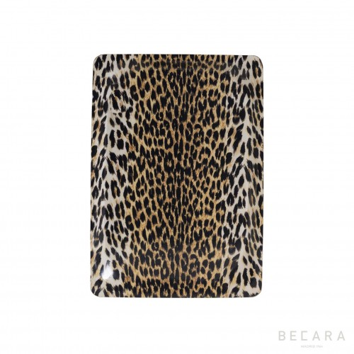 Small leopard print tray