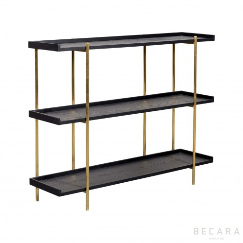 Sulivan small ebony shelves