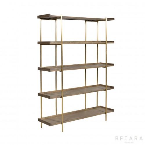 Sulivan tall oak shelves