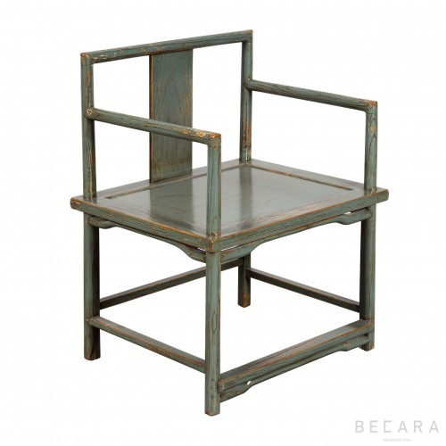 Butaca de madera gris-azulado - BECARA
