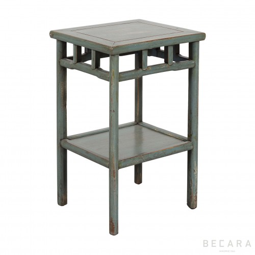 Grey-blueish wooden side table