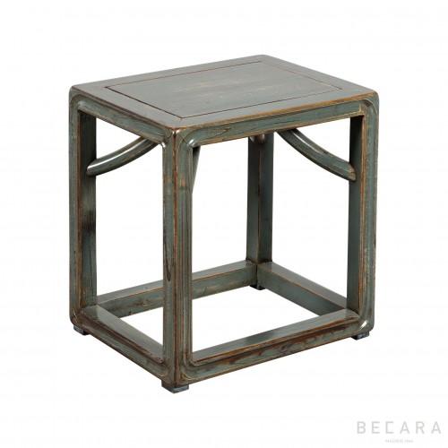 Gray-blueish wooden stool