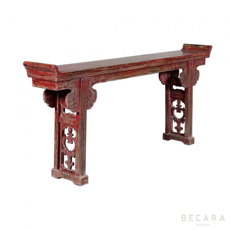 Consola de madera roja - BECARA