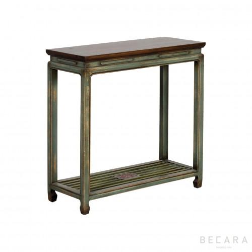 Consola de madera gris