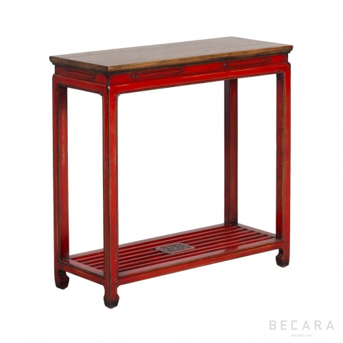 Red wooden console