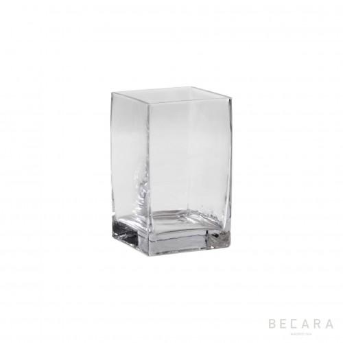 Florero mediano de cristal transparente - BECARA