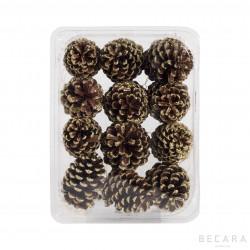 Caja de piñas doradas (12 unidades)
