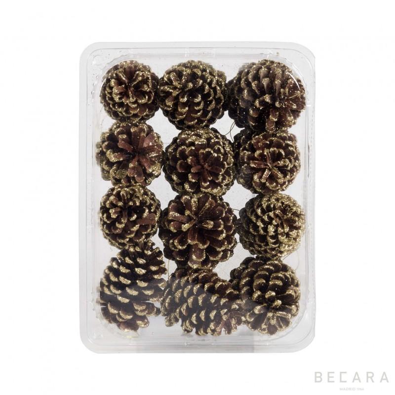 Caja de piñas doradas (12 unidades) - BECARA