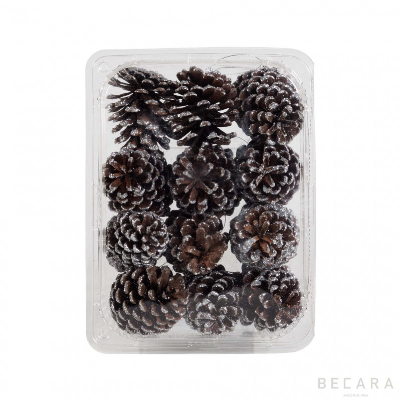 Caja de piñas plateadas (12 unidades) - BECARA