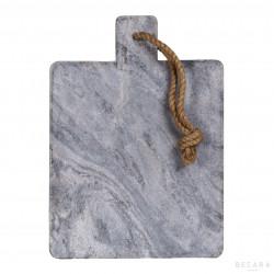 Tabla de mármol gris con cuerda