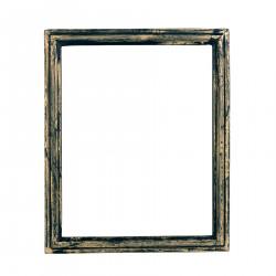 Black wooden big frame