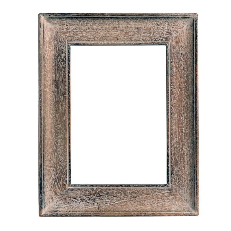 Small white washed wooden frame