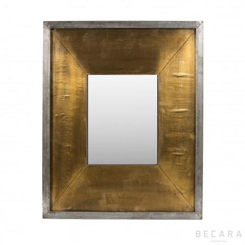44x54cm metal golden mirror