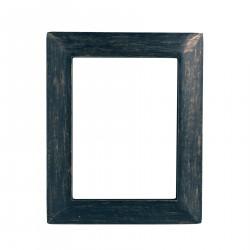 Marco de madera negra-cobre
