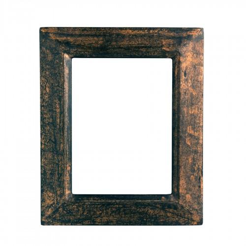 Marco de madera cobre negro
