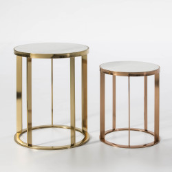 Set of 2 side tables Fountain
