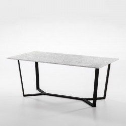 Norlina white dining table
