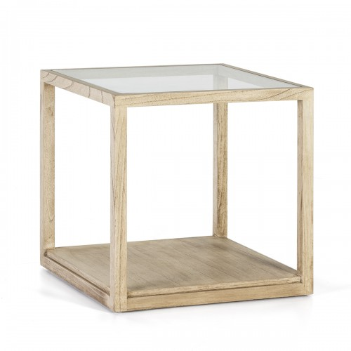 Roper white side table