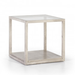 Roper gray side table