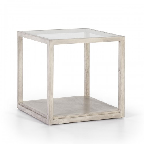 Roper gray side table