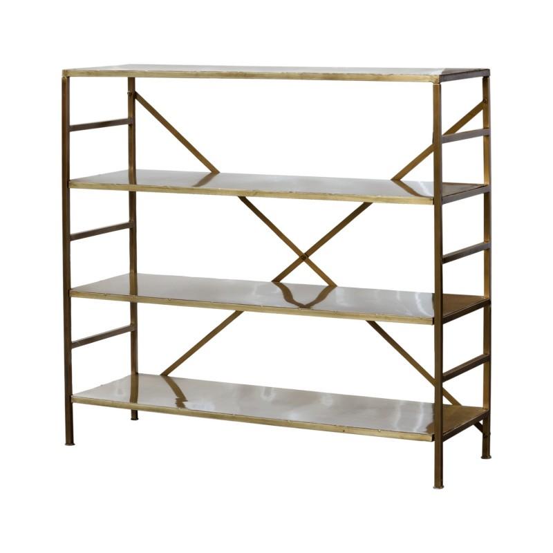 Golden iron shelves