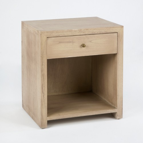 Staley white bedside table