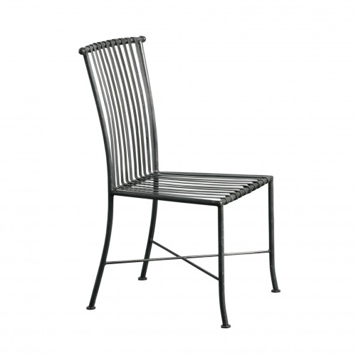 Strips gray iron chair