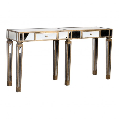 Mirrored console with 6 legs