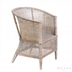 Manila white armchair