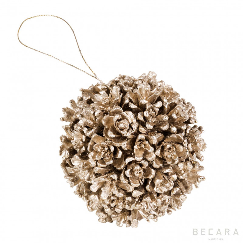 Bola de Navidad glitter champán - BECARA
