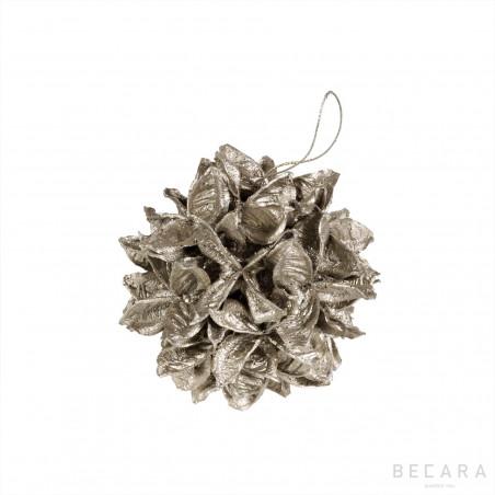 Bola de Navidad hojas pequeña