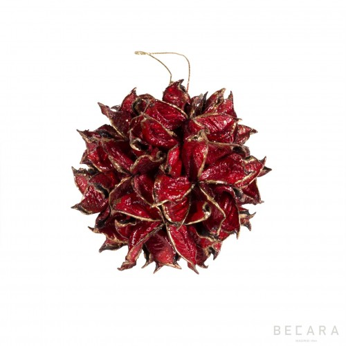 Small red leaves Xmas accessorie