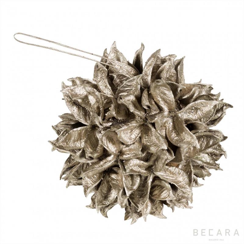 Bola de Navidad hojas grande - BECARA
