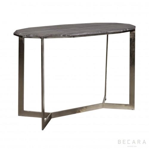 Consola con tapa de piedra rugosa - BECARA