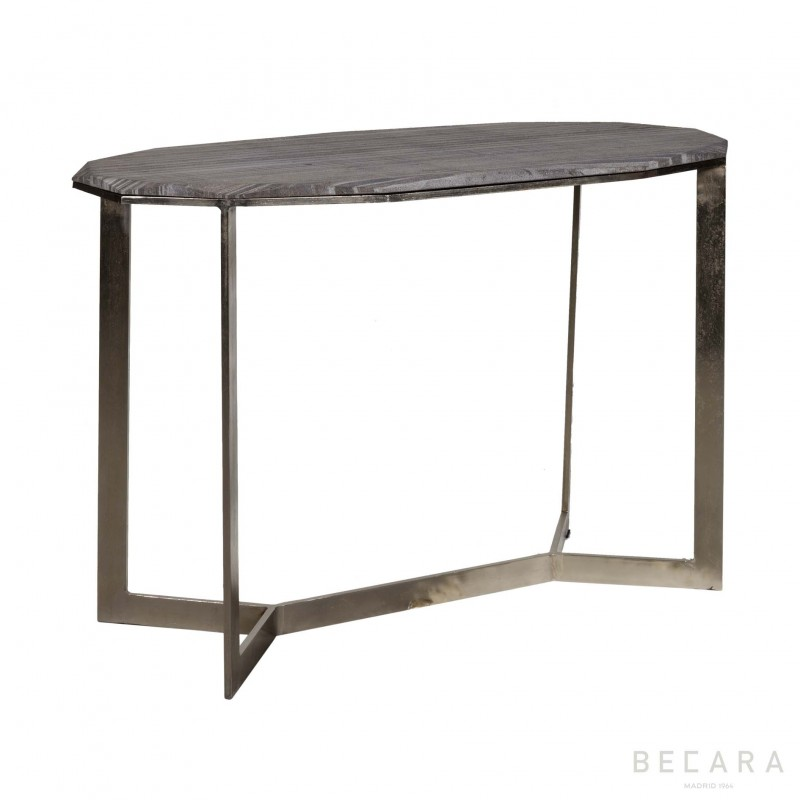 Console with stone top