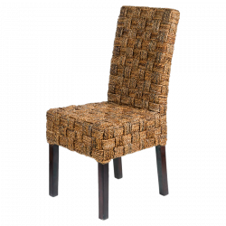 Rattan chair with little squares