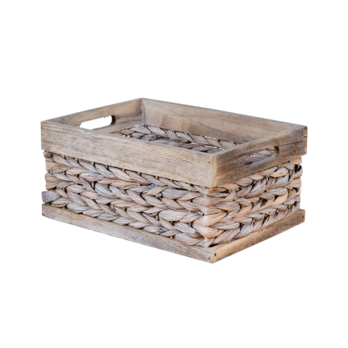 32x23x15cm white edge basket