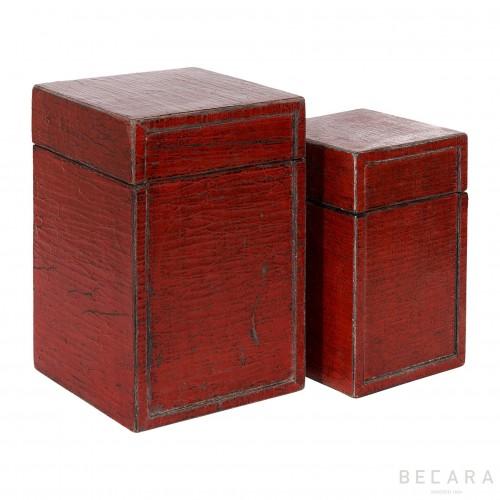 Set 2 cajas caviar rojo