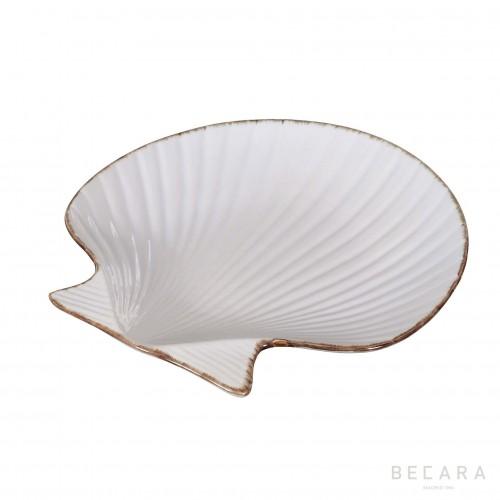 Plato de vieira de cerámica grande