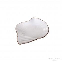 Small snail ceramic dish