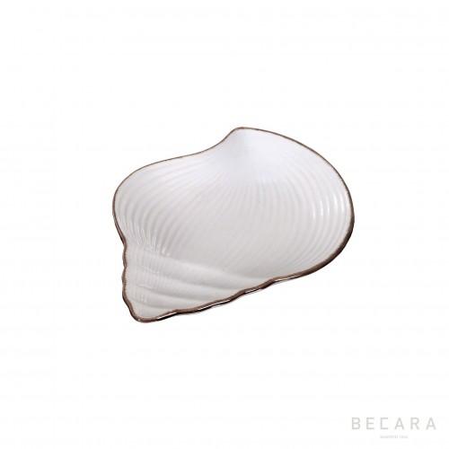 Plato de caracol de cerámica pequeño - BECARA