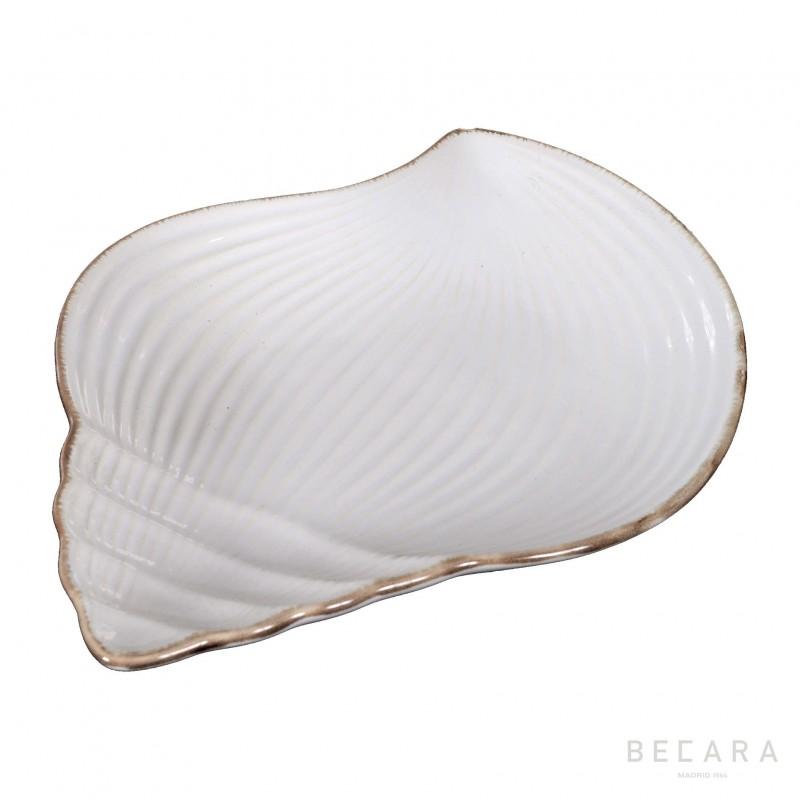Plato de caracol de cerámica grande - BECARA