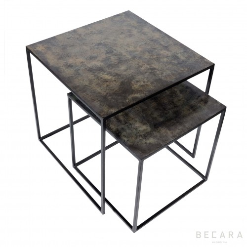 Set of 2 Angkor sidetables
