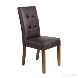 Padded leather chair